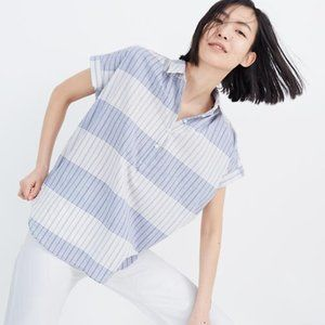 "Madewell popover shirt ""delray Plaid"" button down"